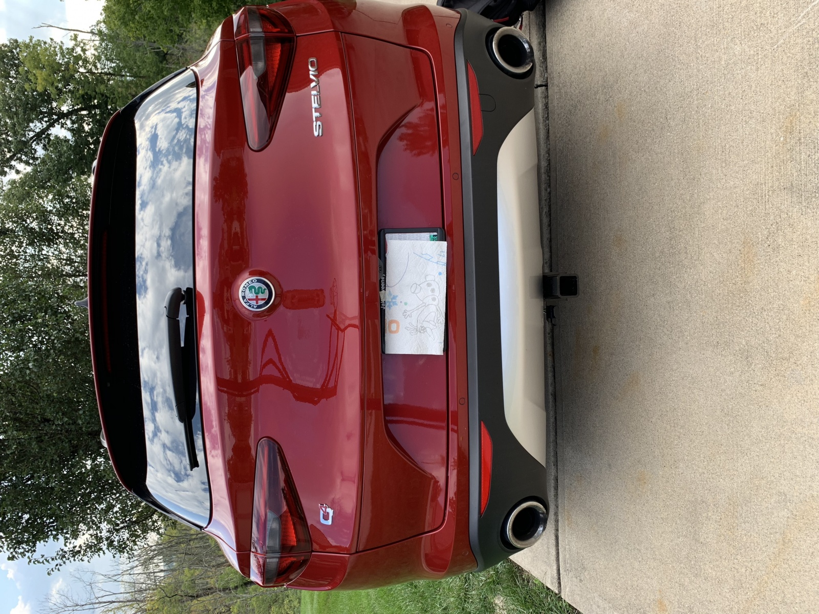 Alfa Trailer hitch and wiring harness installed by dealer ... on